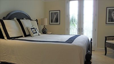 Master Bedroom, roomy dressing area, walk-in shower ,TV/DVD, CD