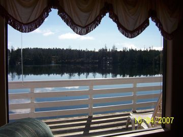 View Of The Lake From The Upstairs Living Room