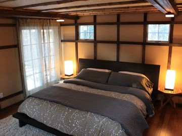 Bamboo garden/master suite with custom ceiling