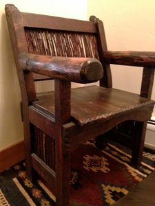 A chair to sit in when you take your ski boots off