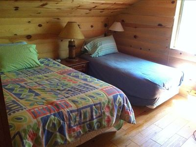 Tucson cabin rental - West side Loft bedroom with full bed and twin