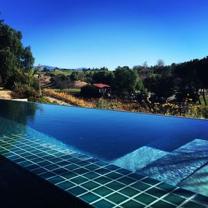 Poolside view to vineyard