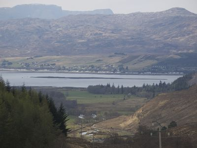 Strathcarron bungalow rental - Attadale Holiday cottages with Loch Carron beyond
