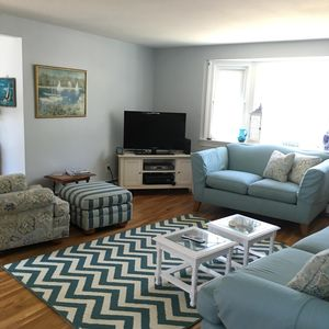 Bright and cheery family room