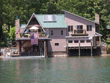 Moneta house rental - House on the Water/ No walk/ Had enough Sun for the day/ Just go inside