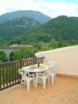 Village House with roof terrace, balcony, garden and magnificent Pyrenean Views.