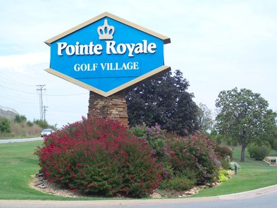 Beautiful Welcoming Entry in to Pointe Royale Golf Village along Hwy 165
