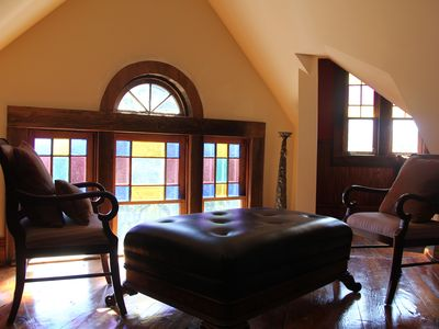 Yadkinville estate rental - The Tower-Original stain glass windows, great views