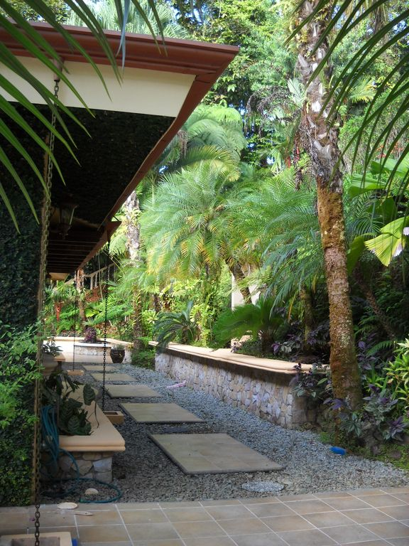 Paved walkways throughout the 5 acre property make the jungle accessible to all