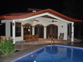 Ojochal villa photo - The pool is lit at night