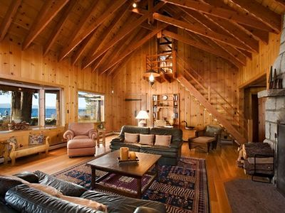LAKE TAHOE LAKEFRONT HISTORIC ESTATE - 'TWIN PINES' - Twin Pines Great Room