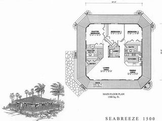 Pahoa house photo - 1500 sq. ft Angel House Floor Plan.
