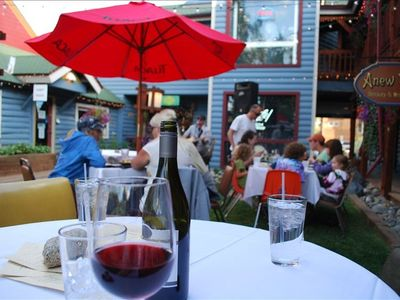 Walk to Main St. Frisk to enjoy outdoor (summer) dining & local musicians