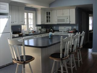 East Sandwich house photo - Breathtaking, huge kitchen/dining area with 2 cathedral ceilings