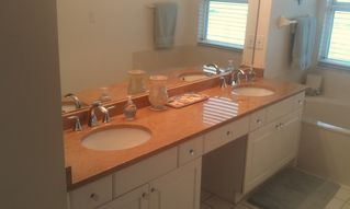 Vanderbilt Beach condo photo - Master Bathroom New 'Sand' Granite Countertop