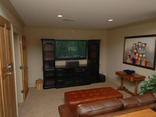 Cashiers estate photo - Lower Level Home Theater with HDTV and Surround Sound