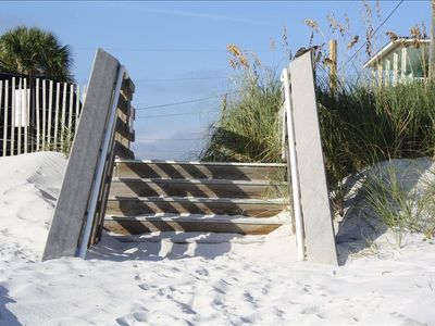Steps down to the beautiful beach