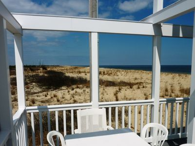 Take in views of the unspoiled Delaware State Seashore on the west deck