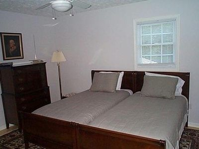The house is fully, nicely furnished and equipped (master bedroom shown)