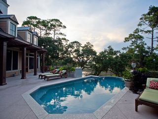 Folly Beach house photo - Infinity Pool and deck area