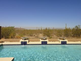 Peoria house photo - Private Luxury Heated Pool with Waterfalls overlooks tranquil Desert views