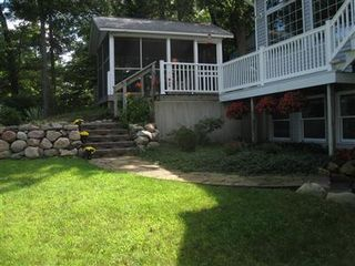 Allegan house photo - Backyard and Screened in Porch