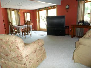Brethren house photo - Lower level living area, walk out to fire pit