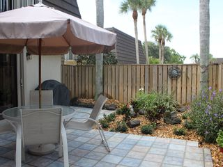Jupiter townhome photo - outdoor, beautifully landscaped fenced private patio