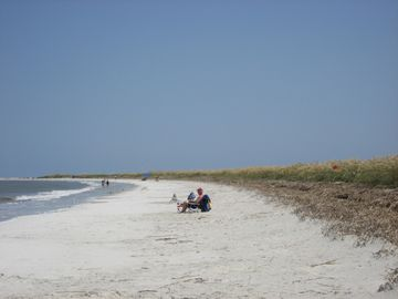 A 3 or 4 minute walk from our rental is this section of the 2 1/2 mile beach.