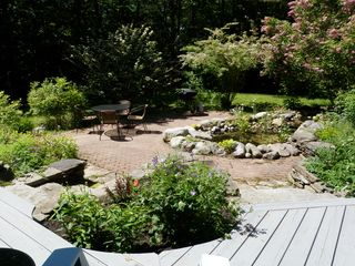 Wiscasset house photo - Patio in early July