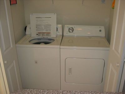 The convenience of a washer and dryer