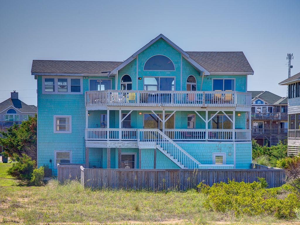 Waves vacation rental vrbo 252340 7 br hatteras island for 9 bedroom vacation rentals