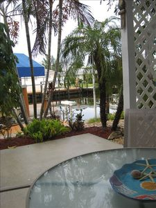 Enjoy morning coffee or your favorite beverage on your tropical lanai.