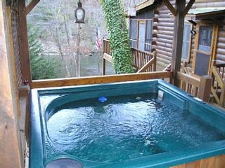 Ellijay cabin photo - Soak in the hot tub!