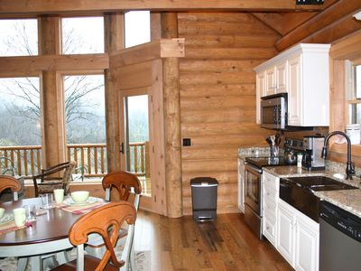 Leicester cabin rental - Full Kitchen, Coffee provided, Gas Grill on Deck
