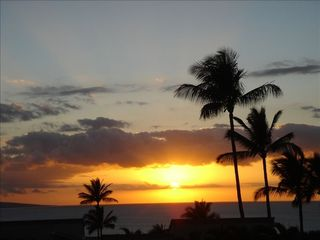 Wailea condo photo - A nightly treat from your lanai at Wailea Ekolu!