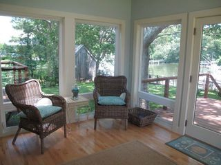 Harbour Island house photo - Porch -- our favorite spot to relax, see the yard, docks and cove