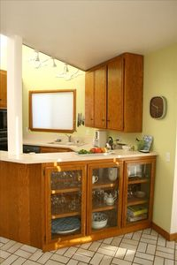 another view of the kitchen in the larger unit