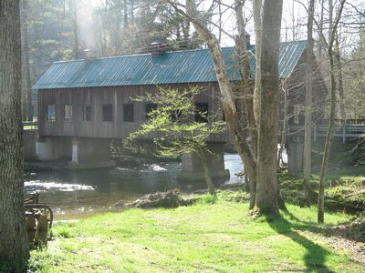 Beautiful Covered Bridge located on Hills Creek Rd. close to cabin