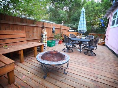 Deck for chilling, grilling and al fresco dining.