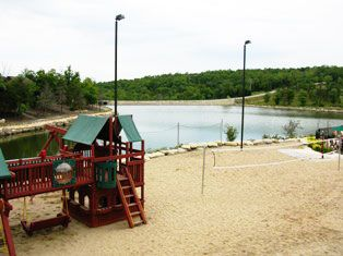 Branson lodge photo - Playground and sand volleyball