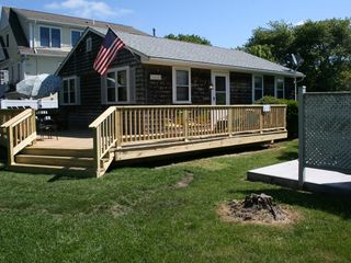 Green Hill cottage photo - Exterior Photo...Brand New HUGE Deck, Kick Back and Relax!