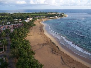 Luquillo condo photo - Spectacular birds eye view of the beach