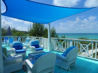 Palmetto Point house photo - Deck over looking the beautiful Caribbean Sea