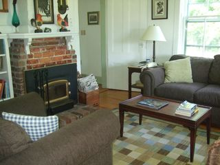 Baddeck house photo - Comfortable Den with Fireplace