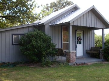 Greers Ferry Lake cottage rental - Welcome to our cozy Greers Ferry Lake Vacation Cottage with 2 porch swings
