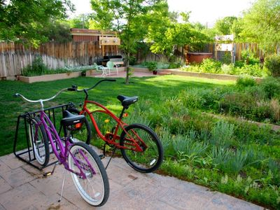 Two townie bikes on the property that all guests are welcome to use