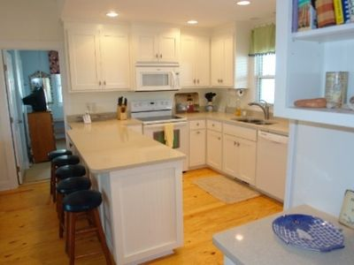 Kitchen with quartz countertops and new appliances