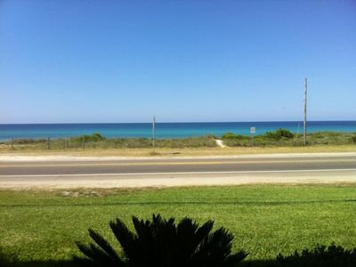 View from private front porch- one of the best beaches in the area!!