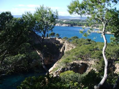 View of some of the many beautiful coastline coves